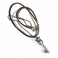 Betico Fashion Gümüş Anahtar Kolye