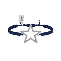 Diamood Jewelry Beyaz Altın Kaplama Gümüş Makrome Örgü Yıldız Bileklik