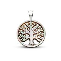 Tesbihane Yeşil Sedef Yapım Hayat Ağacı Kolye (Gümüş Zincirli)