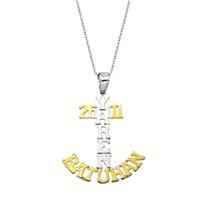 Tesbihane 925 Ayar Gümüş İsim Yazılı Çapa Model Kolye