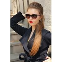 Morvizyon Clariss Marka Siyah & Fuşya Renk Tasarımlı Şık Bayan Güneş Gözlük Modeli