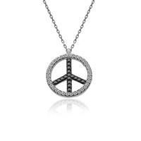 İndigo Takı Zirkon Taşlı Barış Gümüş Kolye