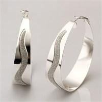 Byzinci Gümüş Yeni Tasarım Bayan Küpe