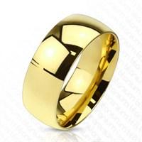Chavin Bombeli Kadın-Erkek Sarı Titanyum Alyans Yüzük Ca48