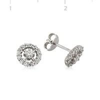 Gumush 925 Zirkon Taşlı Gümüş Küpe   Ea1540009