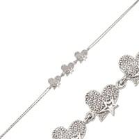 Gumush 925 Zirkon Taşlı Gümüş Bileklik Br0460081