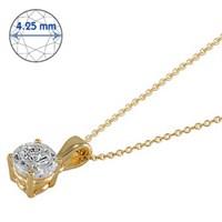 Goldstore 14 Ayar Altın Tek Taş Kolye Gsp15864