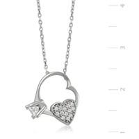 Gumush 925 Kalbimin Tektaşı Gümüş Kolye