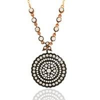 Arjuna Gümüş Zirkon Taşlı Madalyon kl0101f