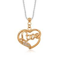 Altınsepeti Pırlantalı Love Gümüş Kalp Kolye Mf022686