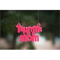 Noramore Trust Me Mom Kolye Pembe