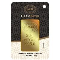 IAR 24 Ayar Külçe Gram Altın 20 Gr. - Aynı Gün Kargo