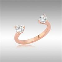 Sheamor Çifttaş Gümüş Tırnak Yüzüğü