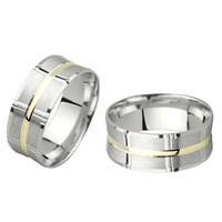 Ejoya Gümüş Çift Alyans C1068