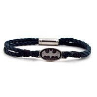 Solfera Batman Logo Lacivert Halat Erkek Bileklik Bt089