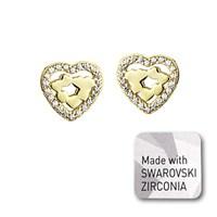 Ejoya Swarovski Kalpler Altın Küpe