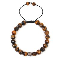 Mammade Tiger Eye & Rhodium Swarovski