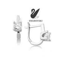 Swarovski 4 Prong Tektaş Beyaz Küpe