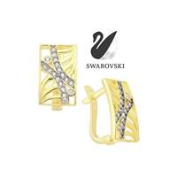Sheamor Swarovski Wave Küpe