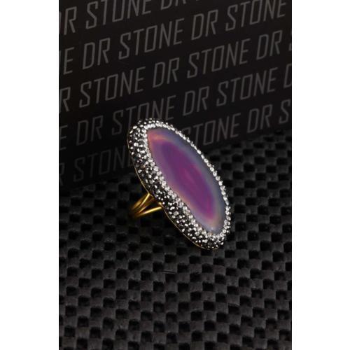 Dr Stone Doğaltaş -Kadın Akik Yüzük 20Ar484