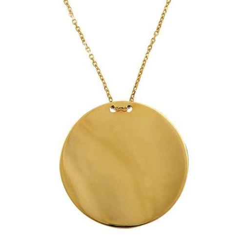Bilezikhane Plaka Kolye 3,68 Gram 14 Ayar Altın