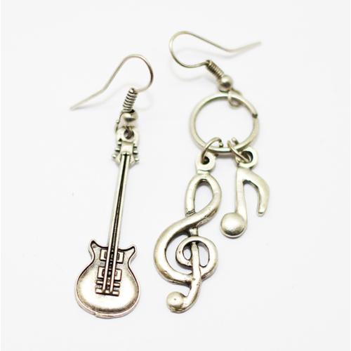 Sol Anahtarı-Gitar Erkek ve Bayan Küpe