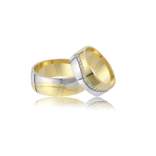 Allegro Gold El İşi Gümüş Çift Alyans AG0009