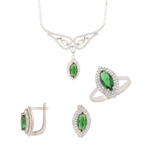 Else Silver Yeşil Prenses Takım
