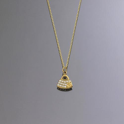 Tuğrul Kuyumculuk Çanta Figürlü Altın Kolye