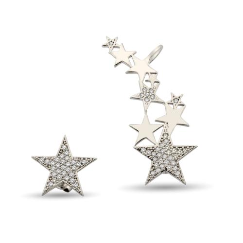 Argentum Concept Yıldız Motifli Gümüş Küpe