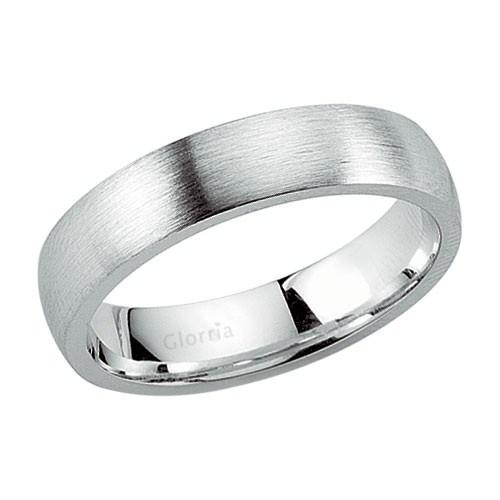 Glorria 925 Ayar Gümüş 5Mm Erkek Alyans Yüzük
