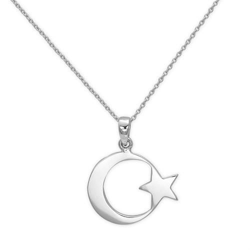 Ariş Ay Yıldız Altın Kolye