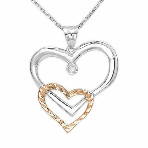Ariş Pırlanta Kalp Gümüş Kolye