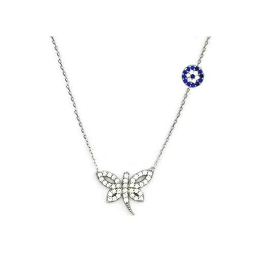 Beyazıt Takı 925 Ayar Gümüş Nazar Boncuklu Yusufçuk Kolyesi