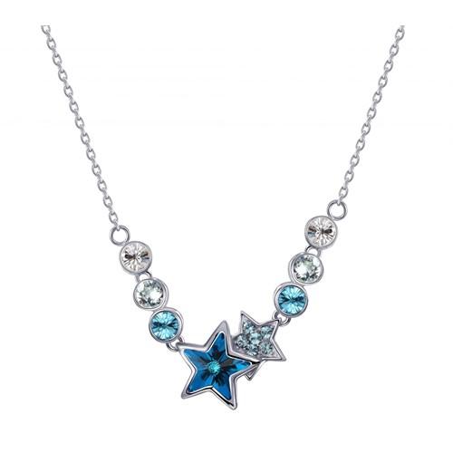 Monemel Mavi Swarovski Taşlı Yıldız Kolye