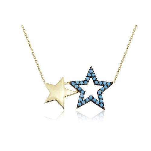 Swandia İkili Yıldız Kolye Swn01571