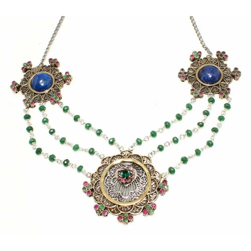 Nusret Takı 925 Ayar Gümüş Osmanlı Tasarımı Otantik Kolye