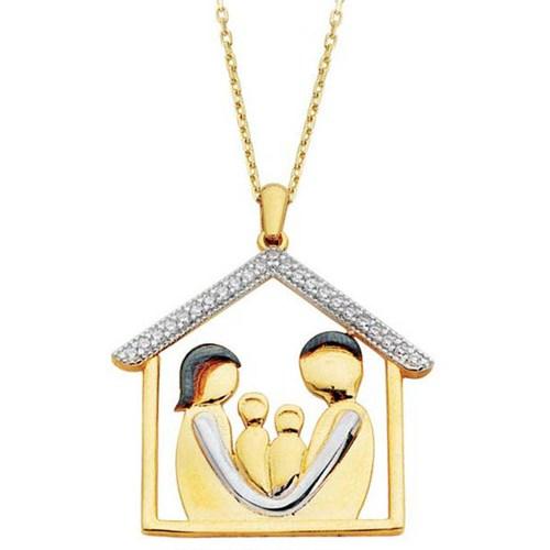 Nusret Takı 14 Ayar Altın Aile Modeli Kolye