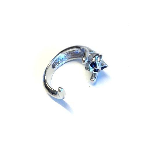 Betico Fashion Gümüş Kedi Yüzük