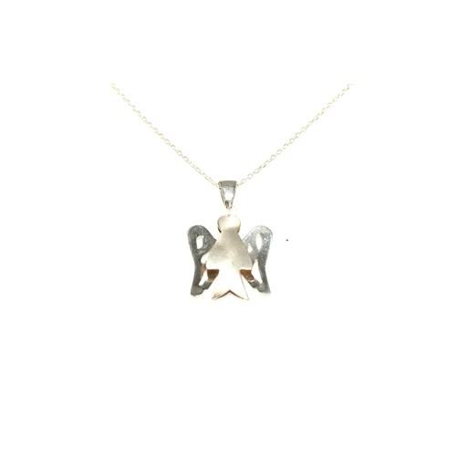 Nusret Takı 925 Ayar Gümüş Melek Kolye Beyaz