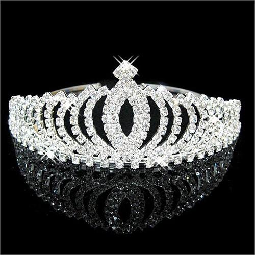 Modakedi Prenses Model Kristal Taşlı Tasarım Gelin Kına Tacı