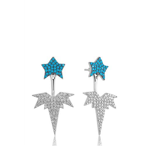 Olivin Accessories Gümüş Kutup Yıldızı Sihirli Küpe 610048