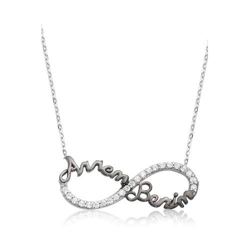 Olivin Accessories Gümüş Sonsuzluk Annem Benim Kolye 610057