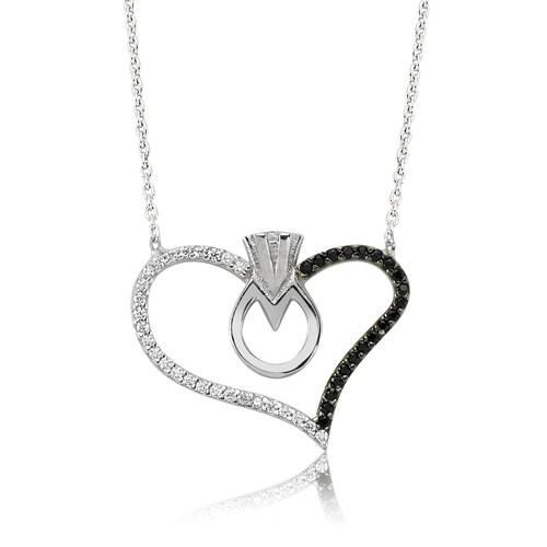 Olivin Accesories Gümüş Kalbimin Tektaşı Kolye 432850