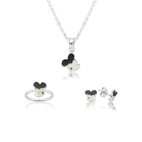 Olivin Accesories Gümüş Miki Mouse Set 433214