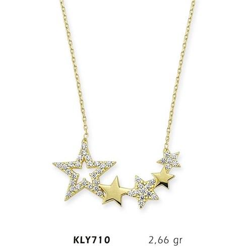 Romeo Pırlanta 14 Ayar Altın Yıldız Kolye Kly710