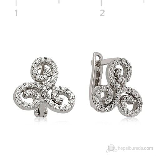Gumush 925 Zirkon Taşlı Gümüş Küpe Ea1540010
