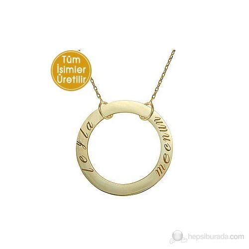 Goldstore 14 Ayar Altın Sevgi Çemberi İsim Kolye GP16595