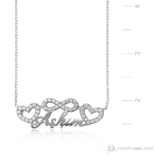 Tekbir Silver 925 Sonsuzluk Kalpli Aşkım Gümüş Kolye PT0460046