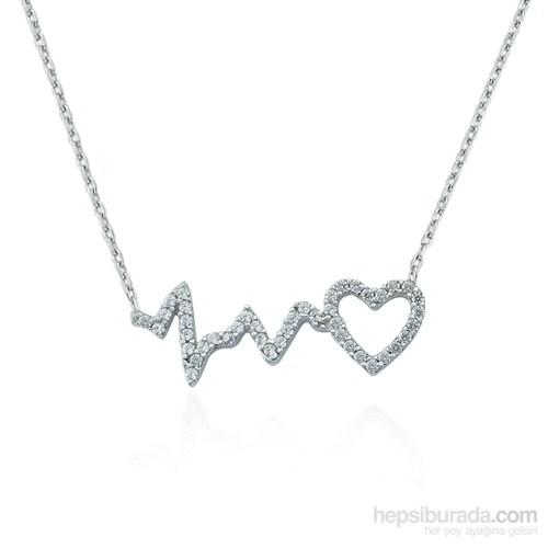 Glorria 925 Ayar Gümüş Kalbin Ritmi Kolye
